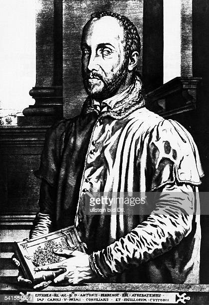 Granvella Antoine Perrenot Cardinal of 15171586 Cleric politician minister under Charles Vand Philipp II of Spain contemp copper engraving of H...