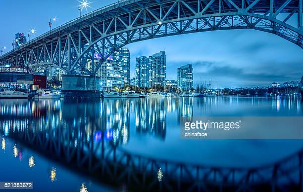 granville  bridge at night - dusk stock pictures, royalty-free photos & images