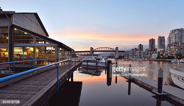 Granville Island at sunset, Vancouver, British Col