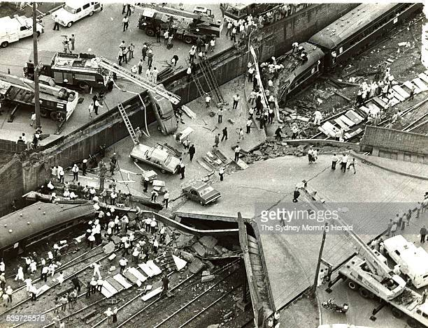 Granville Train Crash Scene of the Granville rail disaster on 18 January 1977 SMH 175 DVD Picture by STAFF