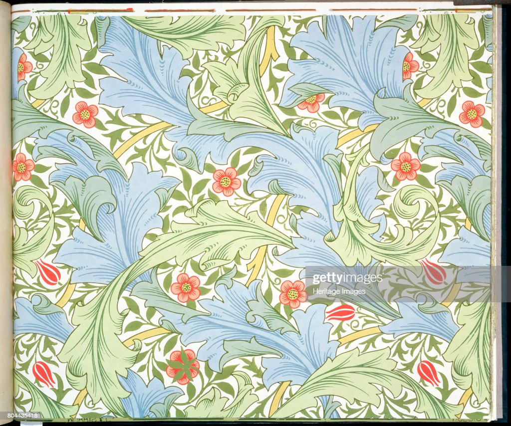 Granville' Wallpaper Designed By John Henry Dearle For Morris And Company 1896 : News Photo