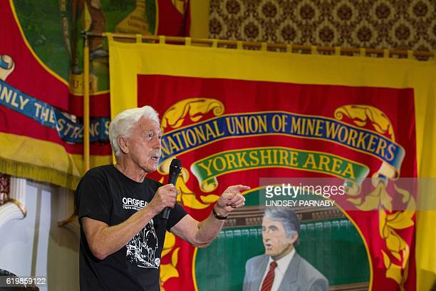 Granville Williams of the Orgreave Truth and Justice Campaign speaks during a media conference at the National Union of Mine Workers in Barnsley...