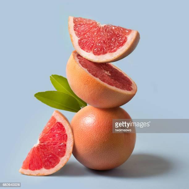Grapefruit close up still life.