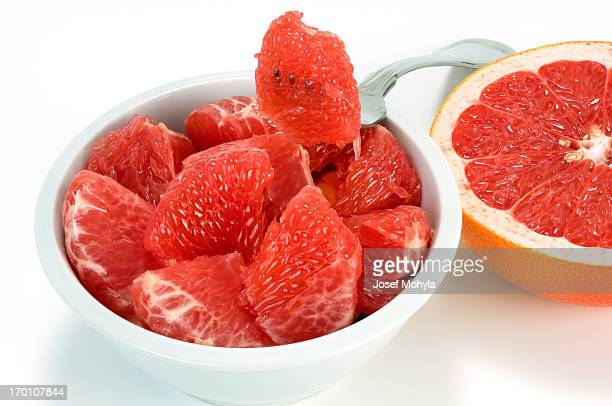 grapefruit for eating - grapefruit red stock pictures, royalty-free photos & images