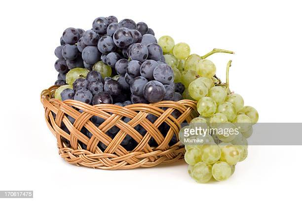 grapes in a wicker basket