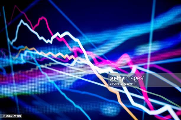 graph lines on screen - graphic accident photos stock pictures, royalty-free photos & images