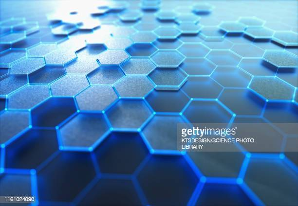 graphene sheet, conceptual illustration - physics stock pictures, royalty-free photos & images