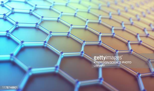 graphene sheet, illustration - atomic imagery stock pictures, royalty-free photos & images