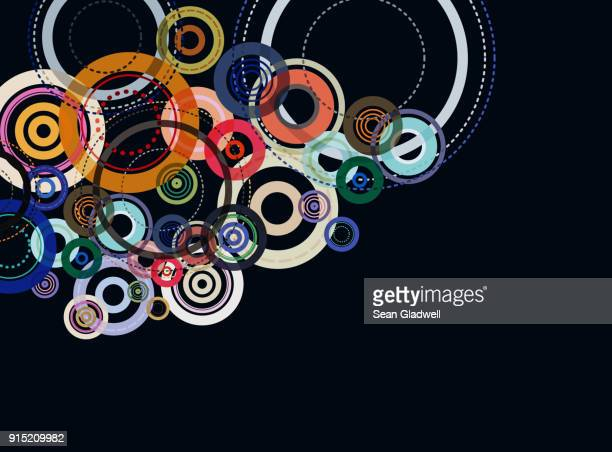 Graphic abstract circles illustration