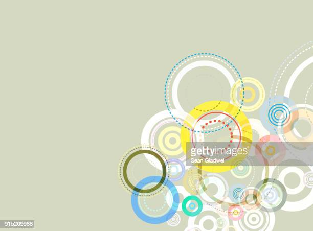 Graphic abstract circles