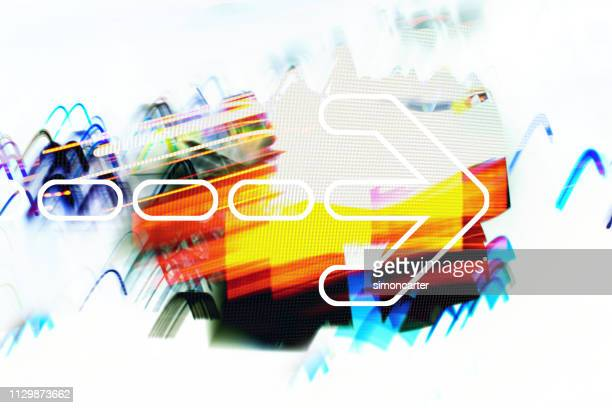 Grafik Pfeil auf abstrakten Hintergrund