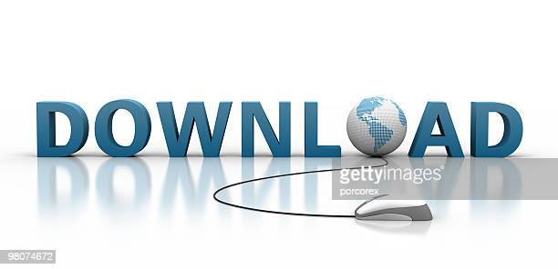 graphic art of the word download using related imagery - www picture com stock photos and pictures