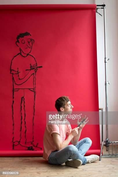 Graphic artist Jean Jullien is photographed for Telerama magazine on June 28 2017 in London England