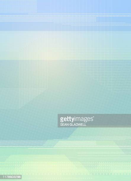 graphic blue and green abstract backdrop - cover design stock pictures, royalty-free photos & images