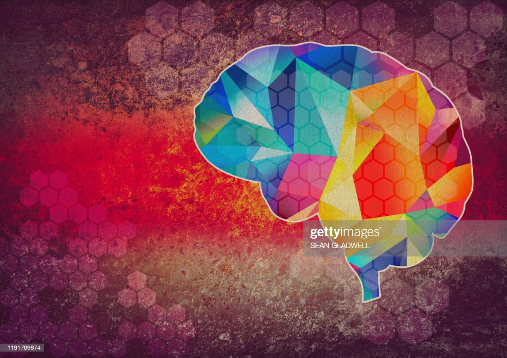 Graphic brain illustration : Stock Photo