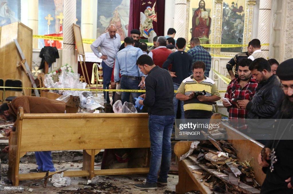 EGYPT-BOMBING-CHRISTIANS : News Photo
