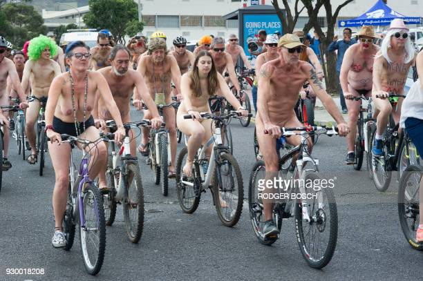 Graphic content / About a hundred people take part in the annual Naked Bike Ride aiming at raising awareness for safe cycling create enthusiasm for...