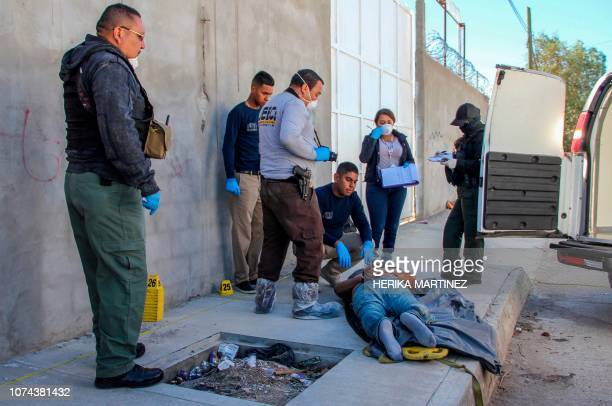 Graphic content / Experts of the Crime Scene Specialized Unit of the Laboratory of Expert Services and Forensic Sciences of the General Prosecutor's...