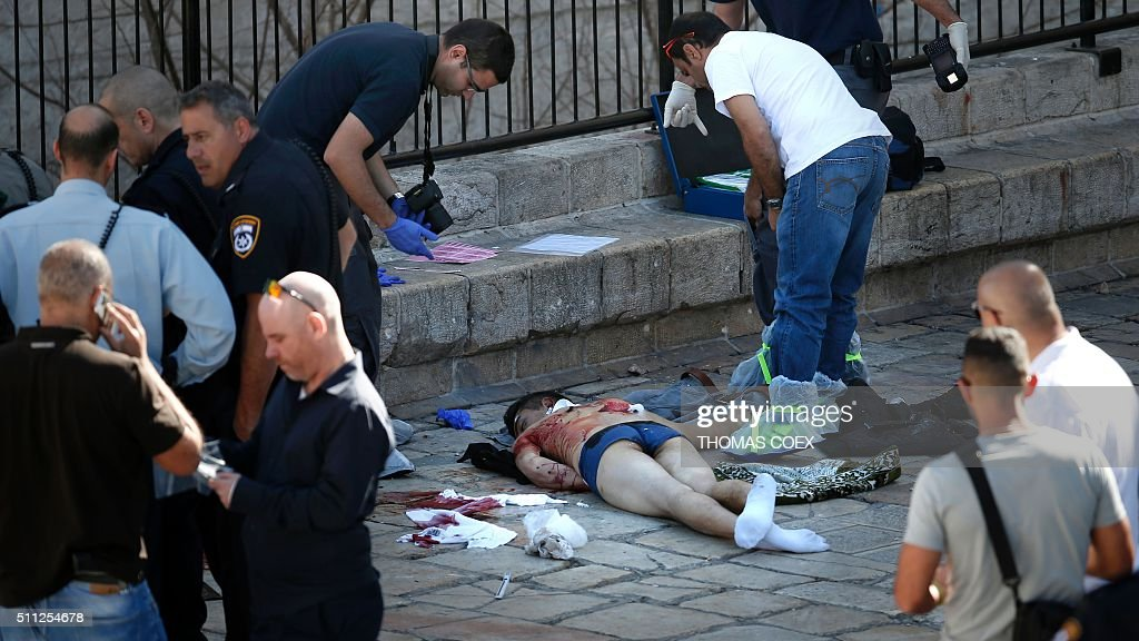 Graphic Content / Israeli Forensic Policemen Check The
