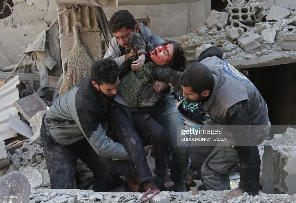 Deadly aerial campaign on rebel-held Eastern Ghouta killed at least some 300 civilians