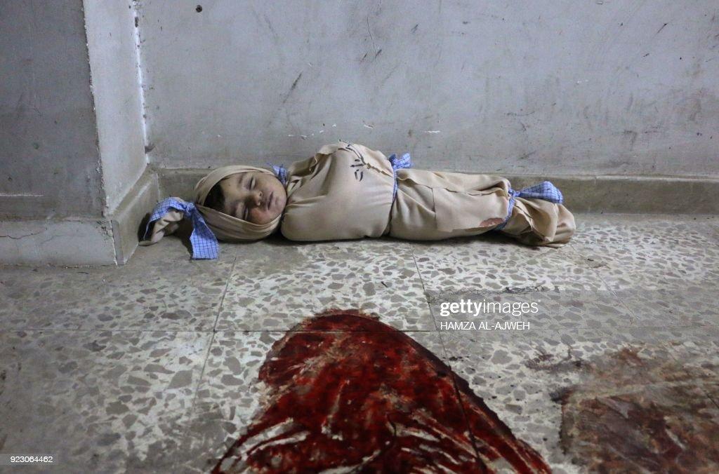 TOPSHOT-SYRIA-CONFLICT : Foto di attualità