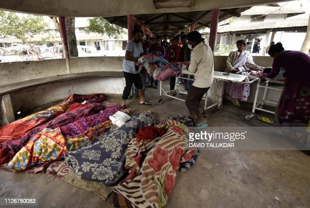 Graphic content / The dead bodies of people killed by drinking toxic bootleg liquor are gathered together at Kushal Konwar Civil Hospital in Golaghat...