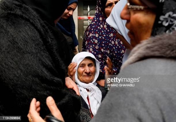 Graphic content / The grandmother of 23yearold Palestinian Mohammed Adwan who was killed during a clash with Israeli forces near Jerusalem overnight...