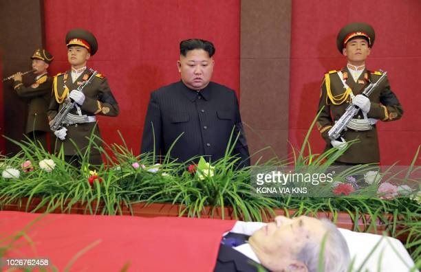Graphic content / This picture from North Korea's official Korean Central News Agency taken on September 4 2018 and released on September 5 2018...