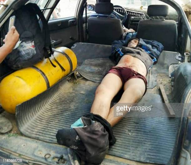 Graphic content / View of the body of a demonstrator killed during clashes between Bolivian riot police and supporters of Bolivia's ex-President Evo...
