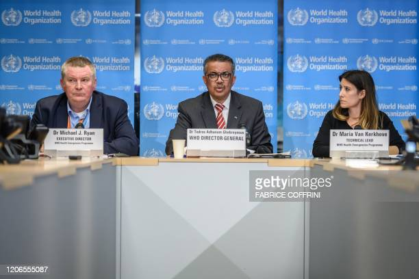 Graphic content / World Health Organization Health Emergencies Programme Director Michael Ryan WHO DirectorGeneral Tedros Adhanom Ghebreyesus and WHO...
