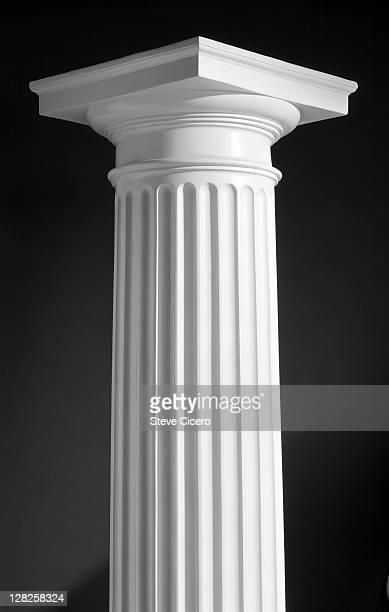 graphic corinthian column icon studio - column stock pictures, royalty-free photos & images