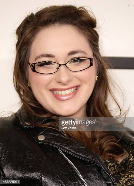 Graphic Designer Annie Stoll attends the 56th GRAMMY Awards at Staples Center on January 26 2014 in Los Angeles California