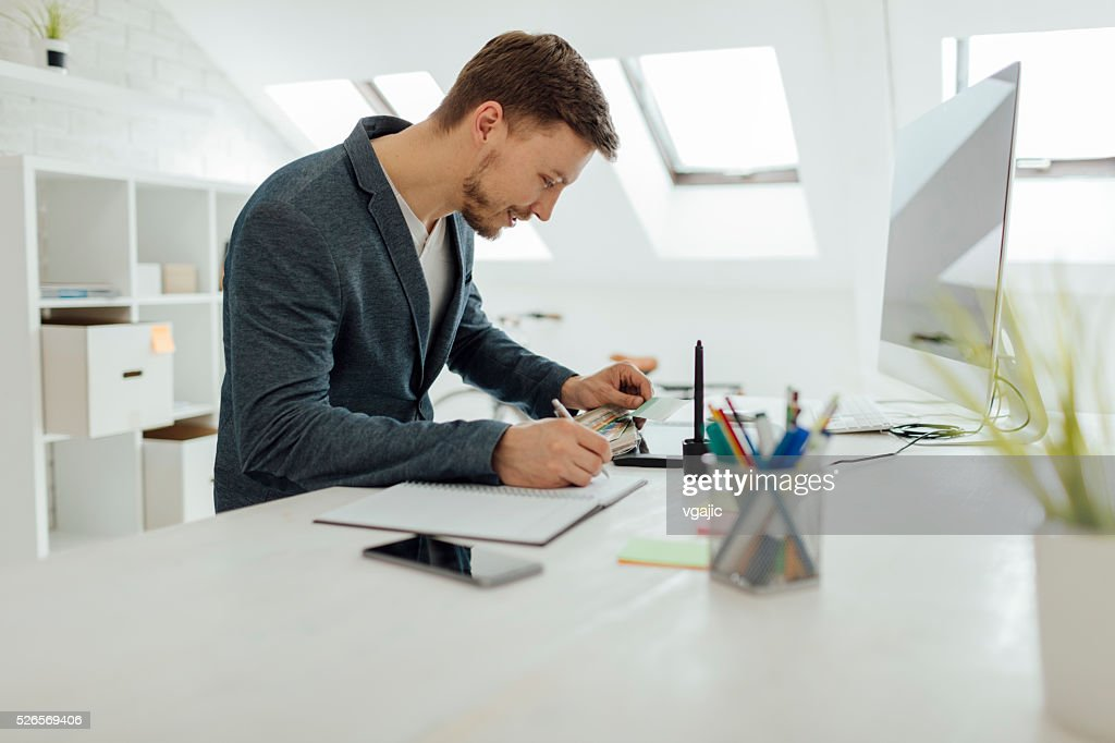 Graphic Designer At Work. : Stock Photo