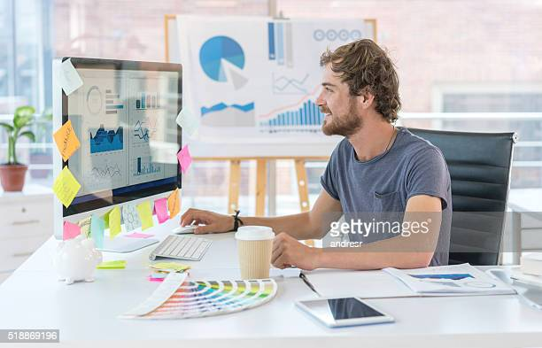 Graphic designer working at the office