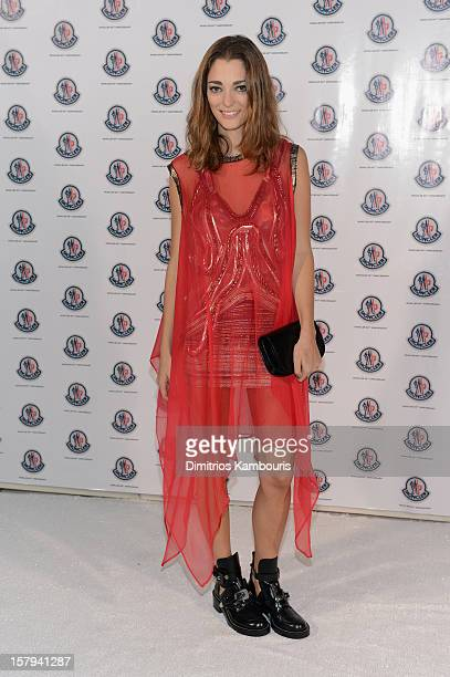 Graphic designer/fashion art director Sofia Sanchez attend a private dinner celebrating Remo Ruffini and Moncler's 60th Anniversary during Art Basel...