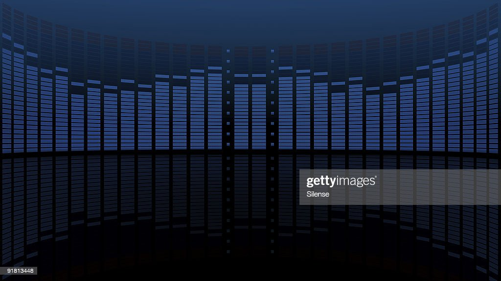 Graphic Equalizer Display With Reflection Stock Photo