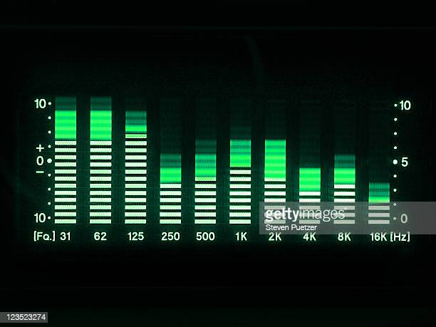 graphic equalizer led lights - equalizer stock pictures, royalty-free photos & images