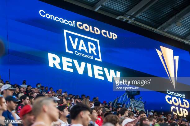 Graphic for VAR review during the Gold Cup semifinal match between the United States and Qatar on Thursday July 29th, 2021 at Q2 stadium in Austin,TX.