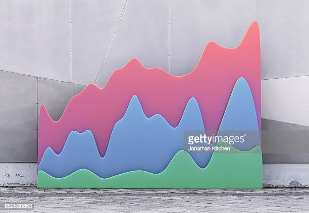 graphic graphs against a wall - making money stock pictures, royalty-free photos & images