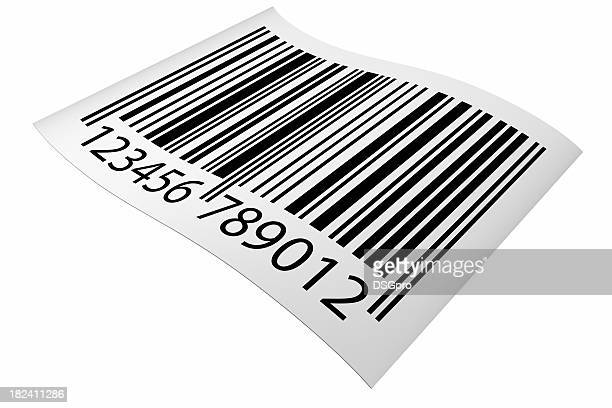 Graphic of an angled barcode sticker