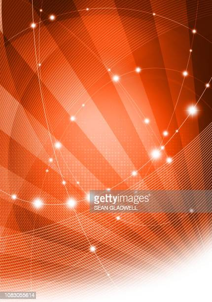 graphic orange network - website template stock photos and pictures
