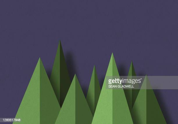 graphic paper trees - tree stock pictures, royalty-free photos & images