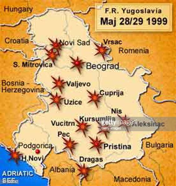 novi jarig Graphic Released By The Yugoslav Army Depicting NATO Air Strike  novi jarig