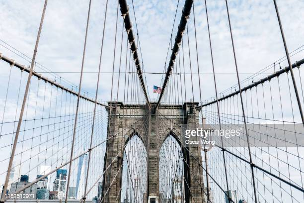 graphical shoot of brooklyn bridge, new york - brooklyn bridge stock pictures, royalty-free photos & images