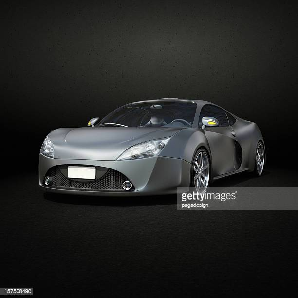 graphite supercar - front view