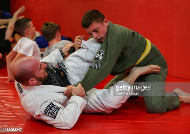 Grappling session class at the opening of Shore Mixed Martial Arts on November 2 2019 in Abertillery Wales