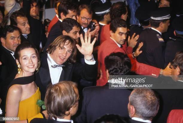 Gérard Depardieu et Anne Brochet pour le film 'Cyrano' lors du Festival de Cannes en mai 1990 France