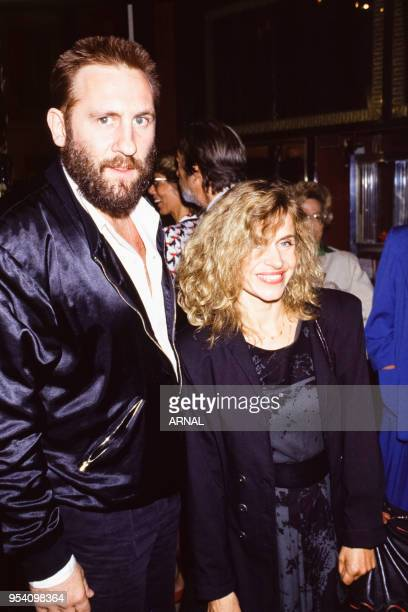 Gérard Depardieu et Elisabeth Depardieu lors d'une soirée à Paris en septembre 1987 France