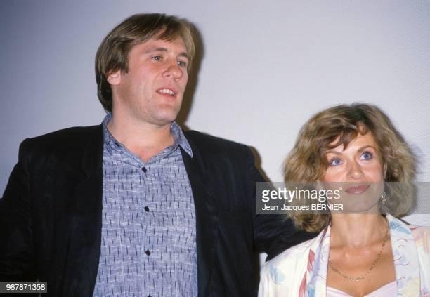 Gérard Depardieu et sa femme Elisabeth au Festival de Sète le 24 juin 1984 France