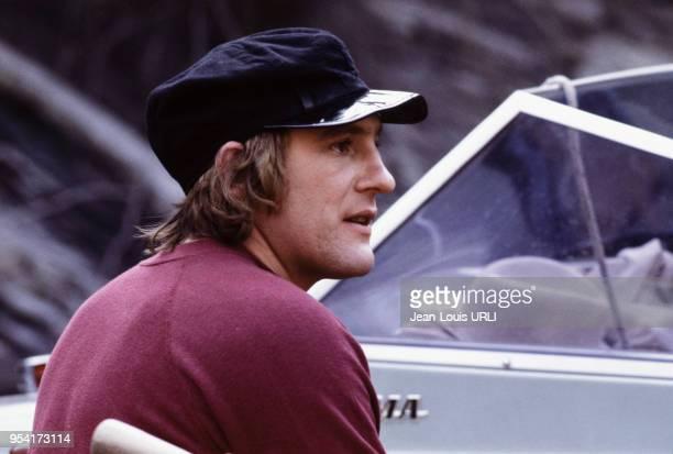 Gérard Depardieu sur le tournage film 'Buffet Froid' réalisé par Bertrand Blier en 1979, France.
